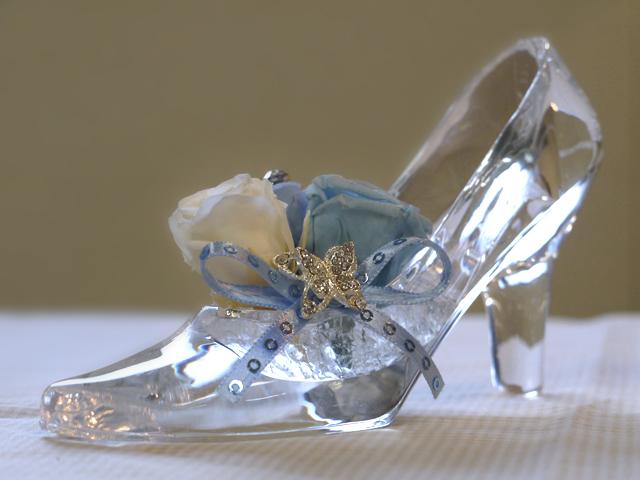 ... ガラスの靴が美しいディズニー